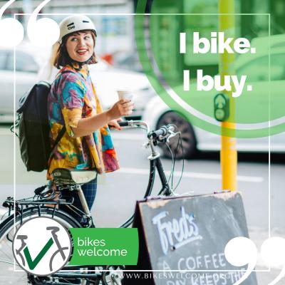 I bike. I buy.  Bikes Welcome