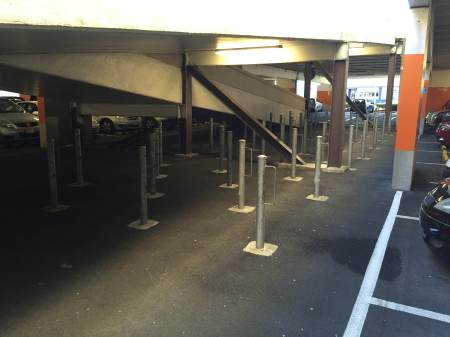 Located in the bowels of the carpark, so even if you know it is there it is hard to find, and candidate for bike theft