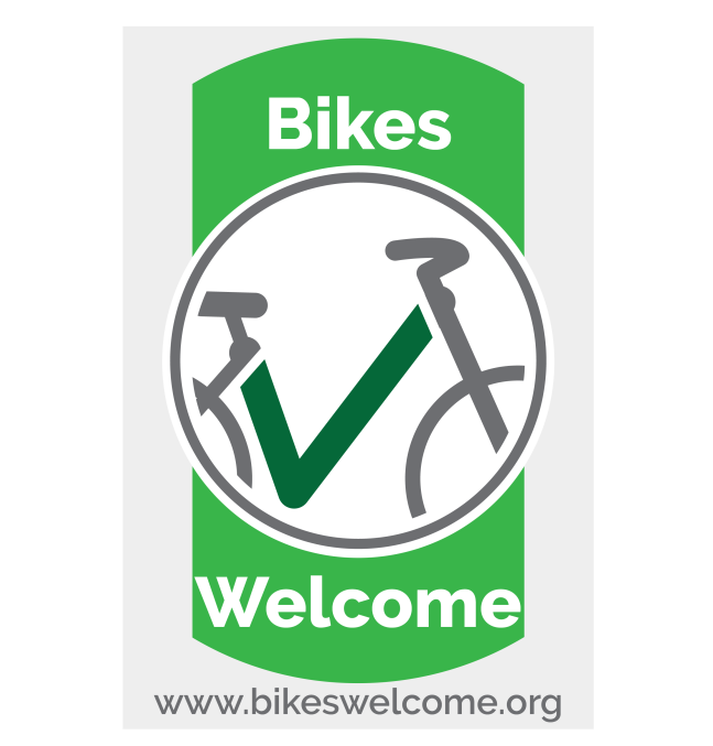 Bikes Welcome Business Window Sticker