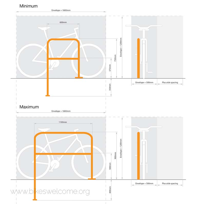 Bikes Welcome Bicycle Parking Envelope